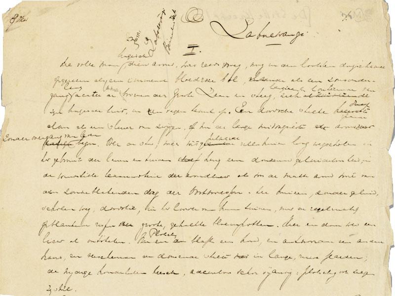 Handschrift Louis Couperus, De stille kracht