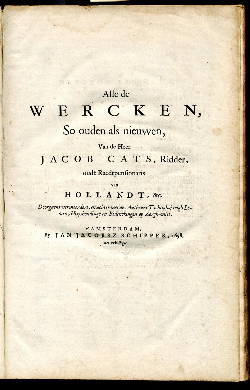 jacob cats spreuken Jacob Cats   Literatuurmuseum jacob cats spreuken